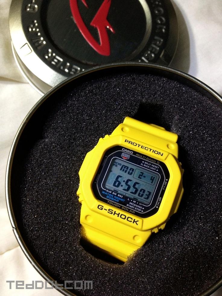 Mellow yellow gw m5600a 9 aka spongebob jewelry casio g shock g shock casio for Thermo scanner watch