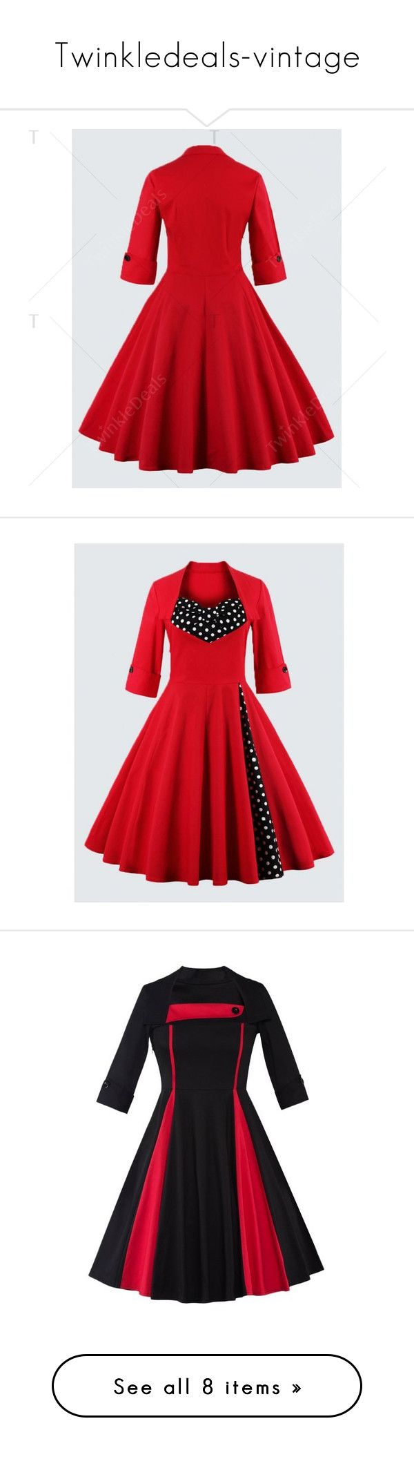 """Twinkledeals-vintage"" by nadiazaful ❤ liked on Polyvore featuring dresses, polka dot dress, plus size polka dot dress, vintage polka dot dress, vintage dresses, red polka dot dress, plus size dresses, womens plus dresses, vintage day dress and red dress"
