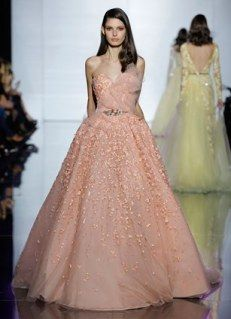 Zuhair Murad's 2015 Haute Couture  #pink #princess #gown