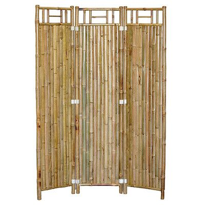 "Bamboo54 63"" x 48"" Natural Bamboo 3 Panel Room Divider"