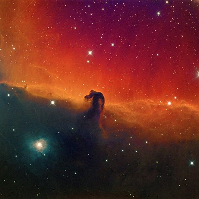 """Sono servite quasi 38 ore di esposizione in 20 notti, tra novembre e dicembre 2013. E poi un lungo processo in postproduzione per mettere insieme tutte le immagini ricavate a diverse lunghezze d'onda della nebulosa """"Testa di cavallo"""". L'astrofotografo californiano Mike Hankey, usando il su"""