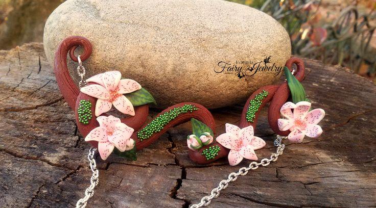 Collana ramo fiori  pasta polimerica modellato a mano senza stampi, by Evangela Fairy Jewelry, 15,00 € su misshobby.com