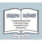 Are you looking for a visually appealing way to enhance the look and organization of your classroom library? Then these are the genre labels for yo...