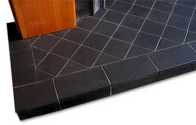 diamond pattern with straight boundary tile.