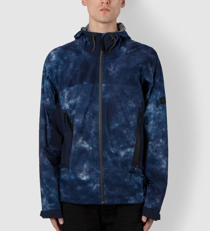 ISAORA Navy 3-L Shell with Stretch Paneling Jacket | Hypebeast Store