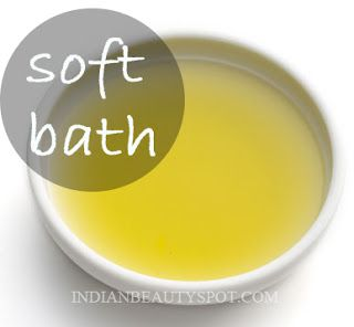 Skin Softener with homemade bath oil
