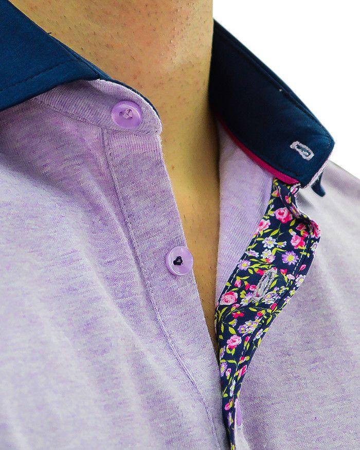 Stone Rose Purple Polo Designer Shirt - lavender