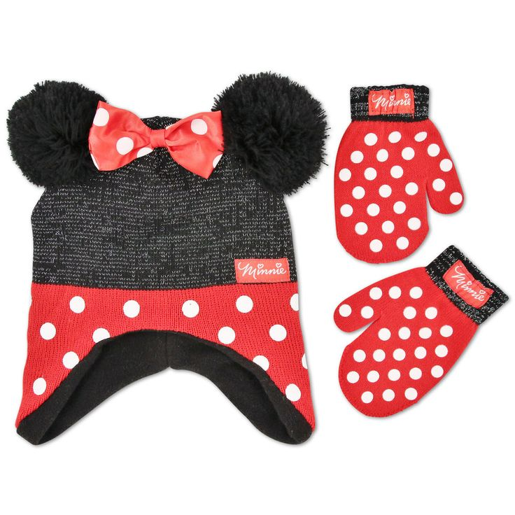 Disney Minnie Mouse Polka Dot Hat and Mitten Set, Toddler Girls, Ages 2-5 | Clothing, Shoes & Accessories, Baby & Toddler Clothing, Girls' Clothing (Newborn-5T) | eBay!