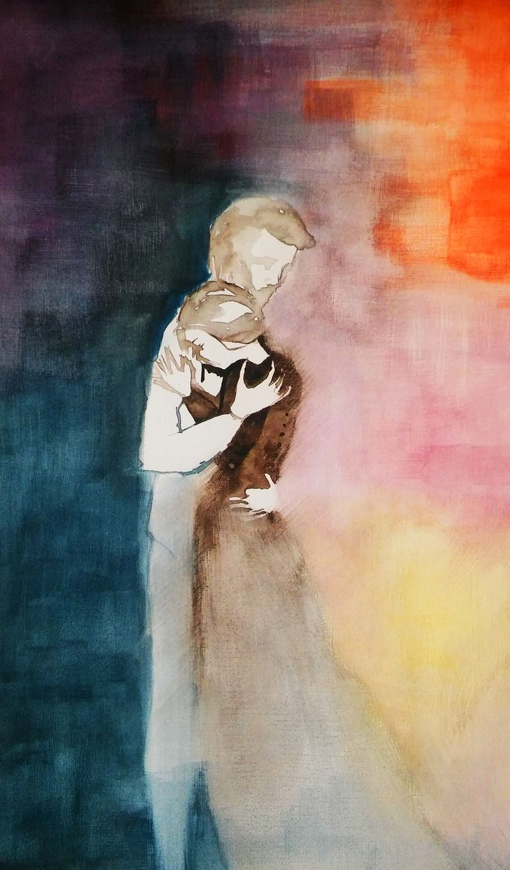 """""""Missing you"""" watercolor painting"""