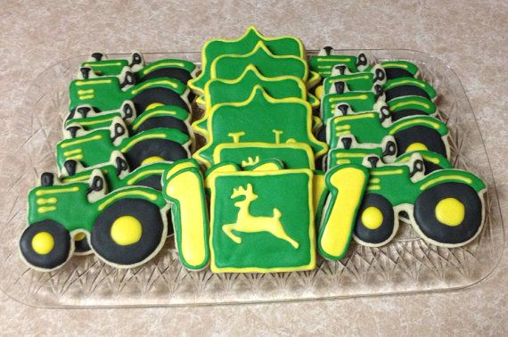 John Deere Tractor Sugar Cookies  One dozen  by CookiesByHannah, $24.00