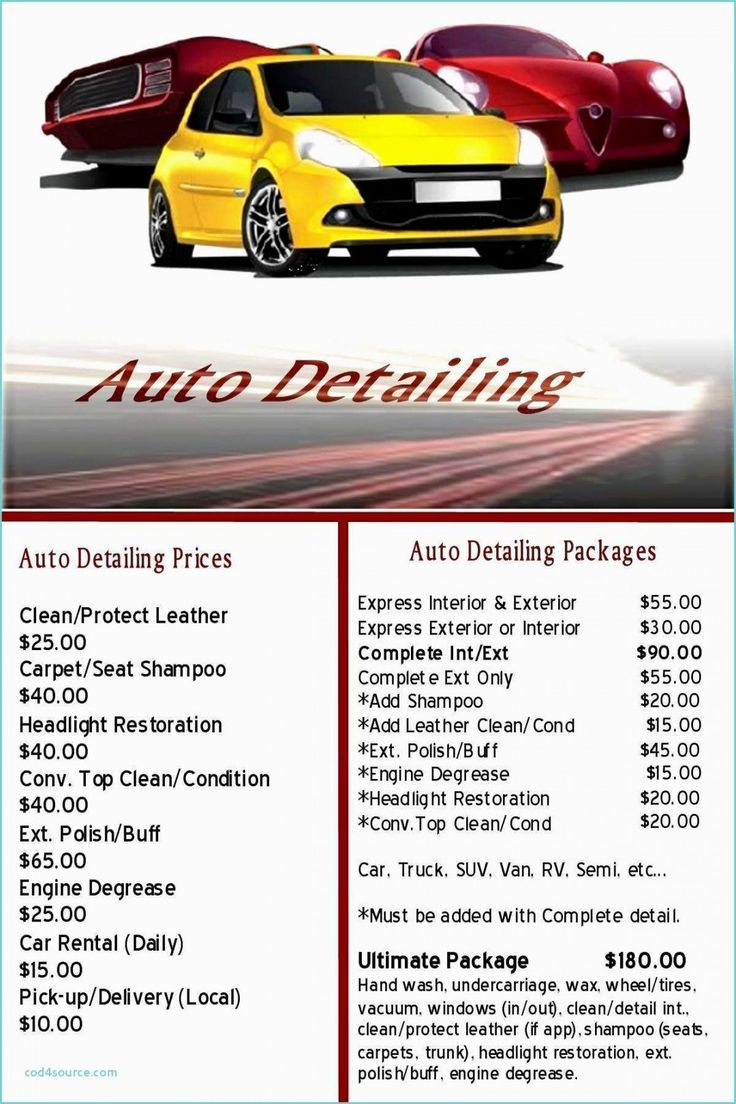 Printable Free Auto Detailing Gift Certificate Template
