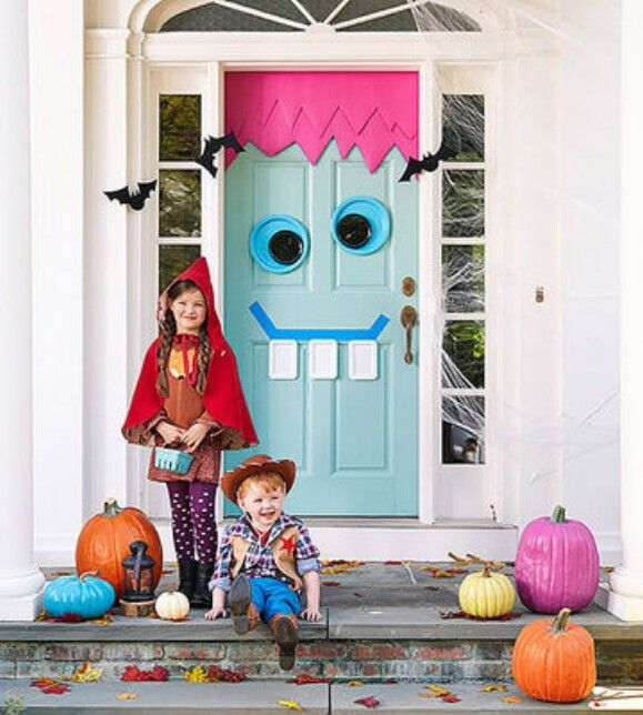 30 Monster Doors and Monster Wreaths to Greet Trick-or-Treaters