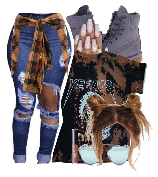 """deja vu-twenty88"" by hxfsa ❤ liked on Polyvore featuring Timberland, Christian Dior, Faith Connexion and tarte"