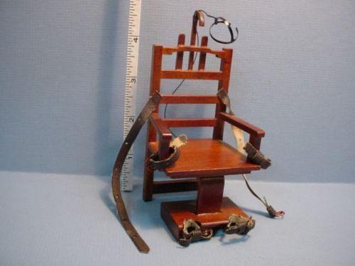 """Old Sparky"" Electric Chair P6630 Dollhouse Miniatures | eBay"