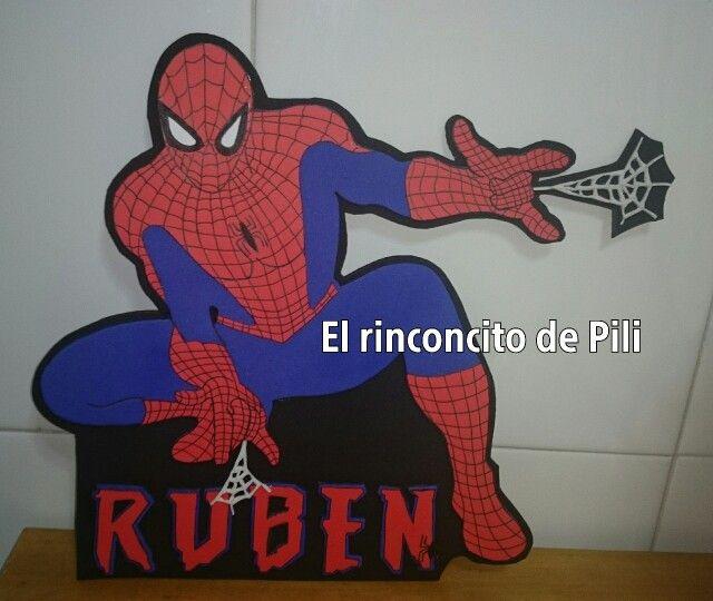 Cartel habitacion spiderman #hombrearaňa #habitacion #cartelpuerta