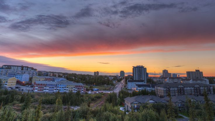 Sunset Over Yellowknife by Jason Simpson on 500px