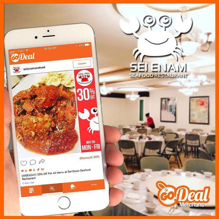 [Sei Enam Seafood] Special Diskon yang diberikan oleh Sei Enam Seafood kepada GoDeal User nikmati diskon 30% untuk semua menu dari Senin-Jumat dan jangan kaget kalo rasanya luar biasa nikmat! . . Sei Enam Seafood offer special discount for GoDeal Users. Enjoy 30% for all menus which valid for Mon-Fri and you will get suprised for incredible good taste. . . .  Category: Food  Opening Hrs: Mon-Sun 11:00-21:00  Location: Jln. Engku Putri Batam Center  Appstore & Playstore  GoDeal  Follow…