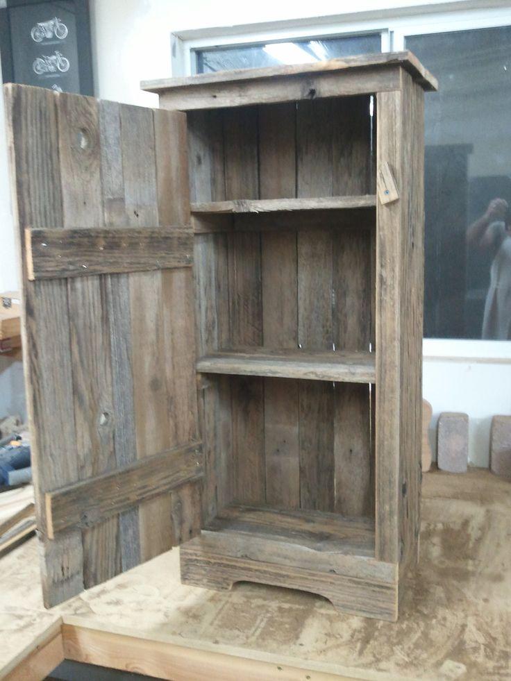barnwood jelly cabinet.