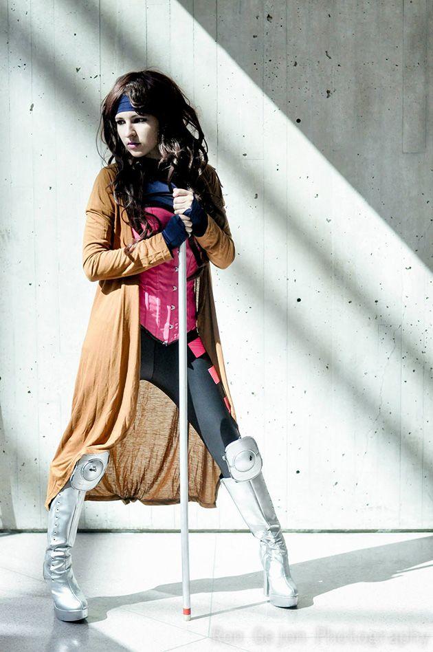 Rule 63 Gambit, cosplayed by Jeanne Killjoy, photographed by Ron Gejon Photography