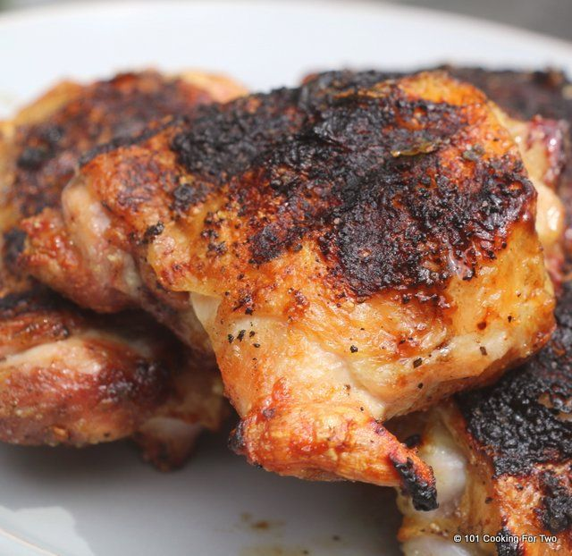 Easy Grilled Chicken Thighs | 101 Cooking For Two - Fire up the grill for these crispy moist chicken thighs. Learn how to grill them just right.