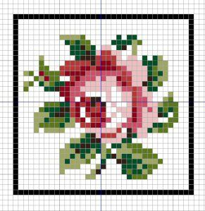 Open House Miniatures - Charted needlework rose