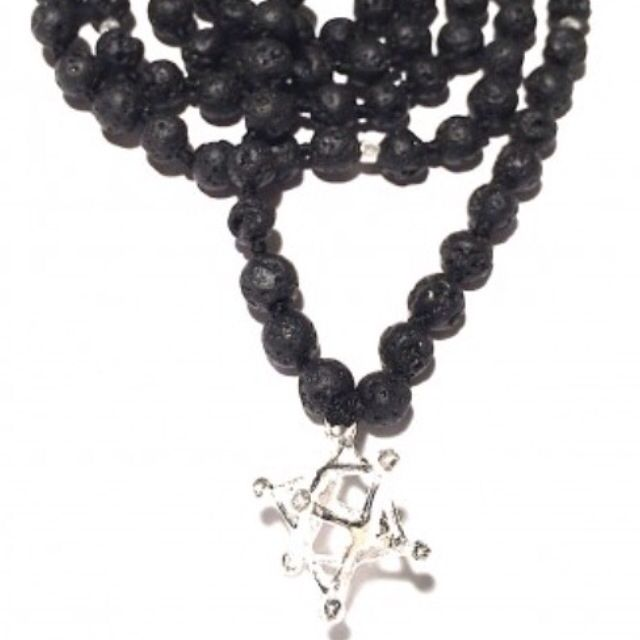"""✨These sacred prayer beads are blessed, cleansed and activated by the five elements. Each of our sacred mala necklaces tell a story and carry specific healing and energetic qualities.✨ The Merkaba is a powerful ancient Egyptian symbol meaning """"Mer""""=Light. """"Ka""""=Spirit. """"Ba""""=Body. The Sacred Geometry of the Merkaba holds within it's matrix the secrets of manifest creation & a vehicle of ascension. <>$65<>  http://heartmala.com/sacred-geometry-charms/merkaba-lava-mala-prayer-beads."""
