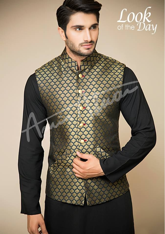 Amir Adnan Men Ceremony Kurtas Waist Coat Collection 2018
