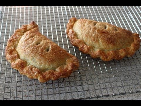 Apple Hand Pies - Apple Turnovers Recipe |  For 4 Apple Hand Pies | About 1 pound pie dough, divided into 4, egg wash (1 egg beaten with 2 tsp milk), granulated sugar as needed | For the apple filling: 2 tbsp butter, browned, 2 or 3 green apples, 1/4 tsp salt, 1/4 cup white sugar, 2 tbsp brown sugar, 1 1/2 tsp cinnamon, or to taste, 1 or 2 tsp of water if needed.