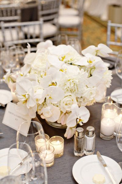 These orchids are one of my faves. So crisp  clean and perfectly complement the roses  peonies.