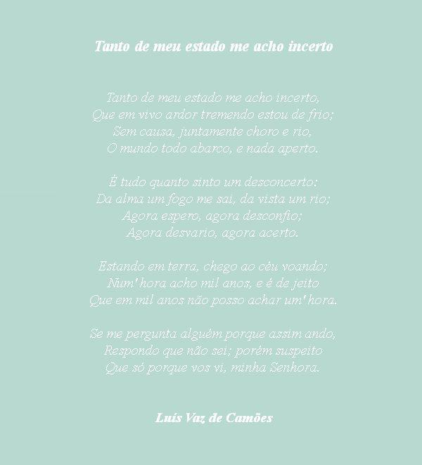 In other words: hoje, com Camões