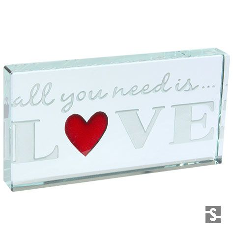 Romantic Gifts | Landscape Token All You Need Is Love | Spaceform http://www.spaceform.com/products/landscape-token-all-you-need-is-love