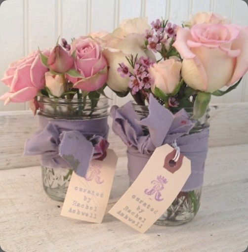 Great idea.....we did this for our table decorations at our wedding - it works beautifully xxx
