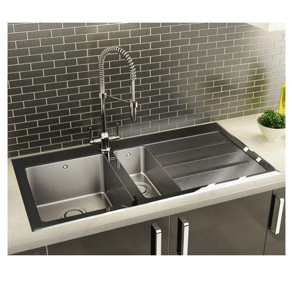 carron phoenix silhouette 150 stainless steel glass sink appliance house. beautiful ideas. Home Design Ideas