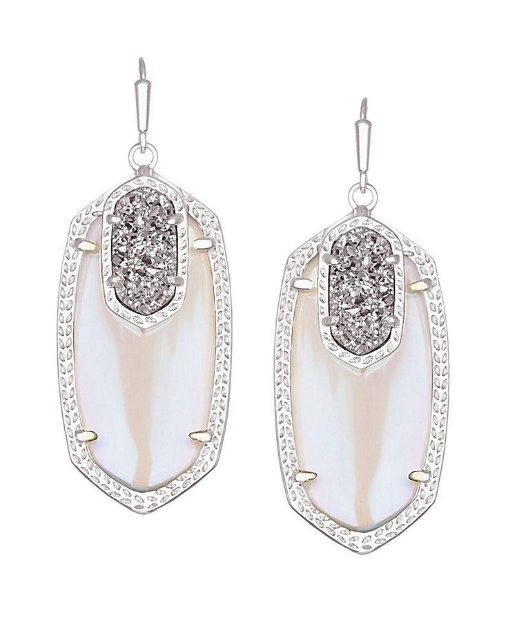 Emmy Drop Earrings in Platinum Orbit - Kendra Scott ... Emmy Drop Menko