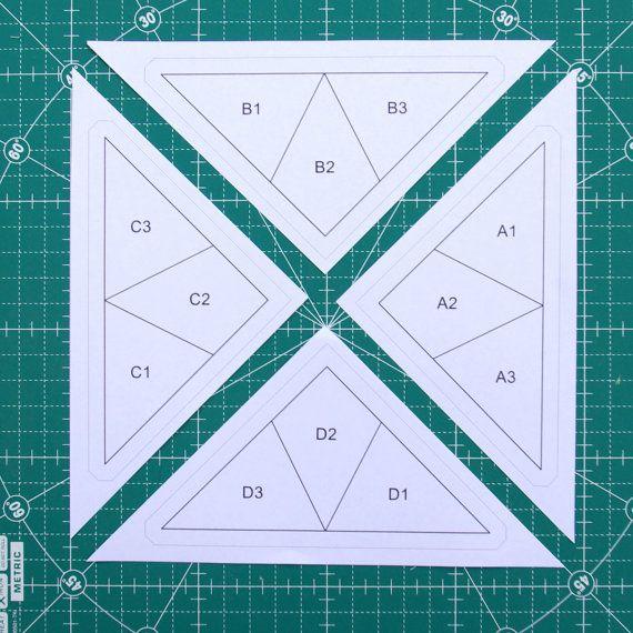 Colibrí Fundación juntar las piezas de patrón por redpepperquilts