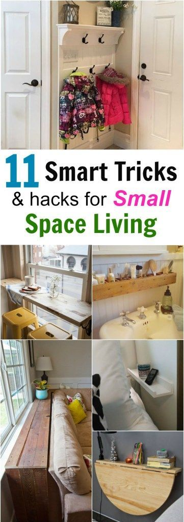 These 11 Smart Tricks and Hacks for Small Space Living can help maximize your living space and easily organize or declutter your home.