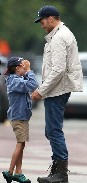 06/17/2014: John Edward Moynahan dropped off by mom, Bridget Moynahan. His visit with Dad...TB12;-).