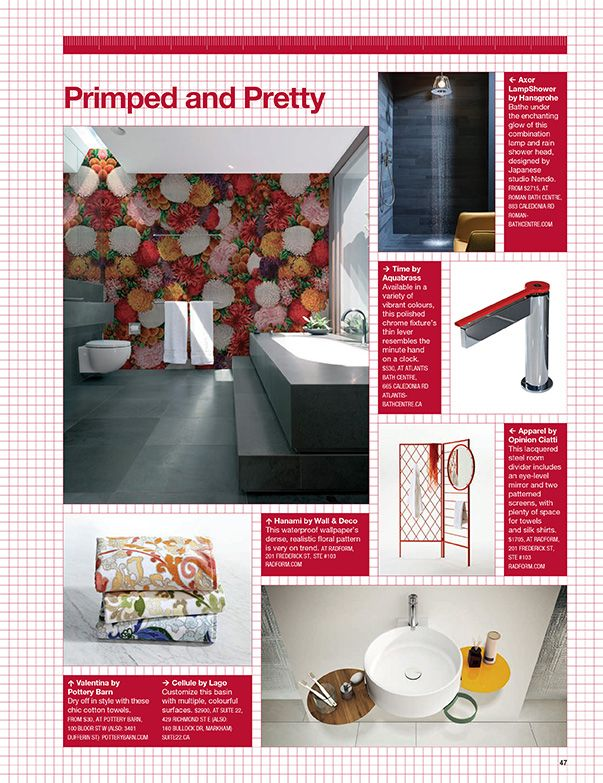 The Apparel wardrobe and Hanami wallpaper were featured in the current issue of Designlines. Visit us at the showroom or inquire by emailing info@radform.com