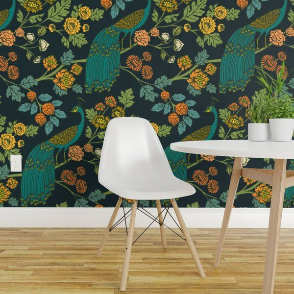 Our Peel And Stick Wallpaper Is A Woven Textured Polyester Fabric With An Adhesive Backing It In 2020 Wallpaper Panels Chinoiserie Wallpaper Peel And Stick Wallpaper