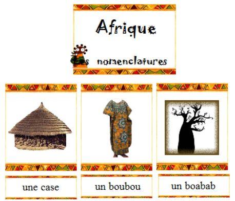vocabulaire - Afrique - Nurvero