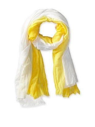 45% OFF Tolani Women's Ombre Scarf, Yellow/White