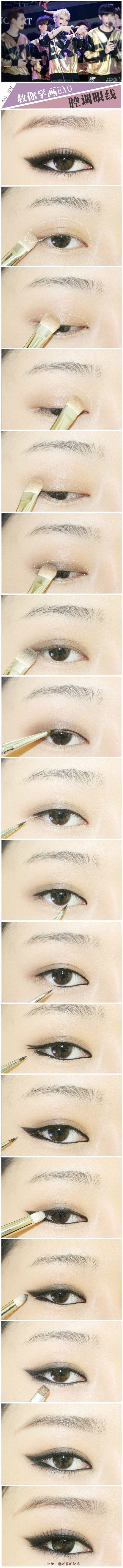 sometimes i wish i was asian, so i had eyes like this. soooo pretty! but then again, i love my eye shape~<3