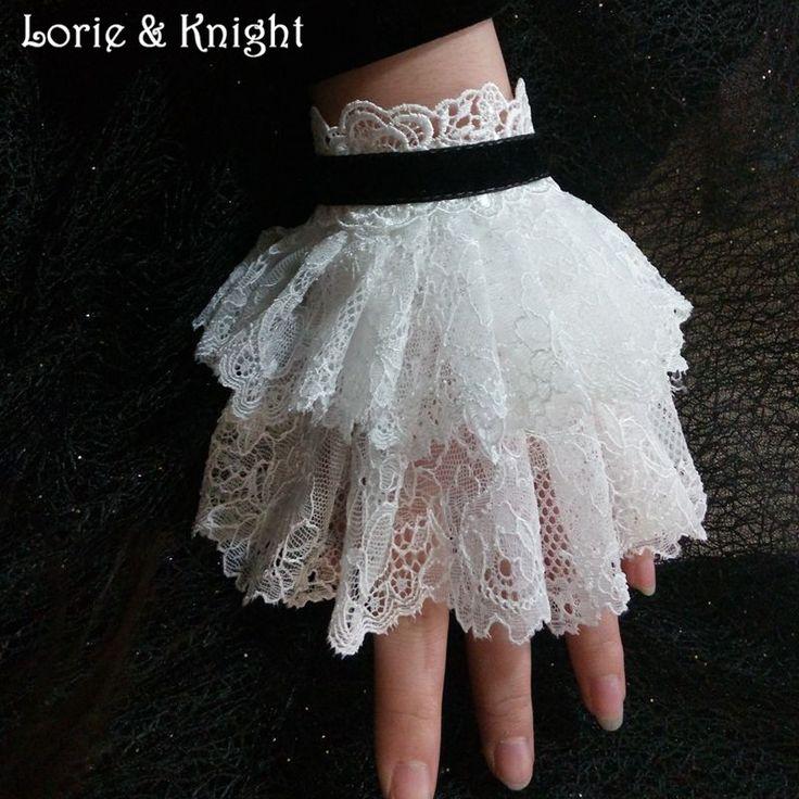 Vintage Gothic Lace Victorian Wrist Cuff Bracelet WHITE Find More Charm…