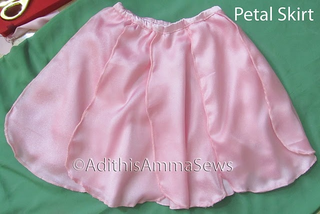 how to make a fairy petal skirt