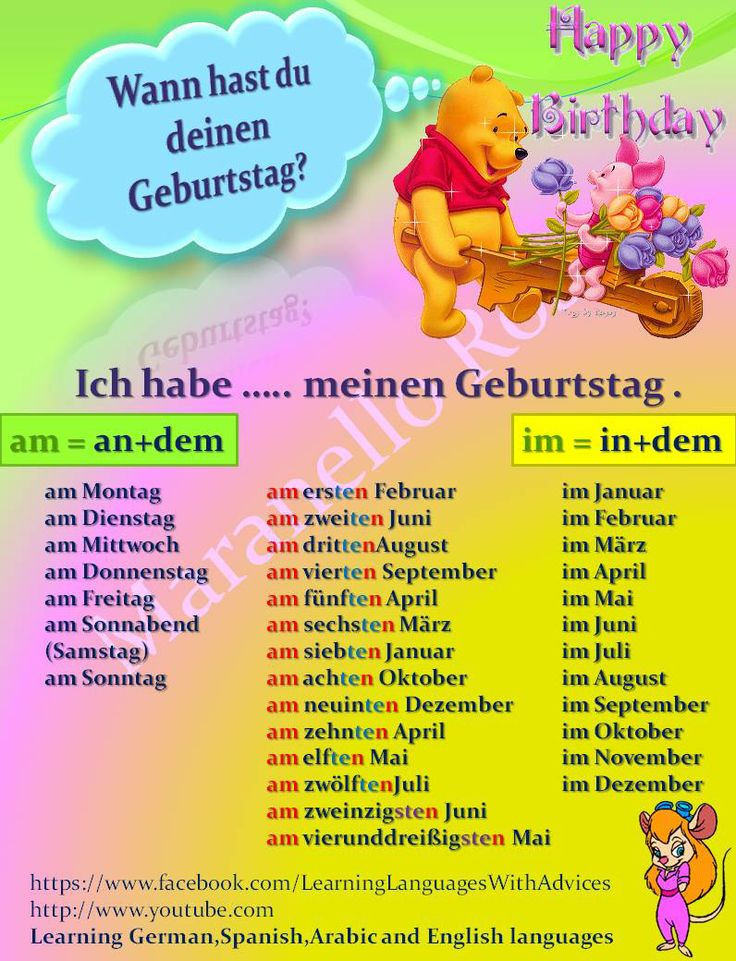 When is your birthday - German