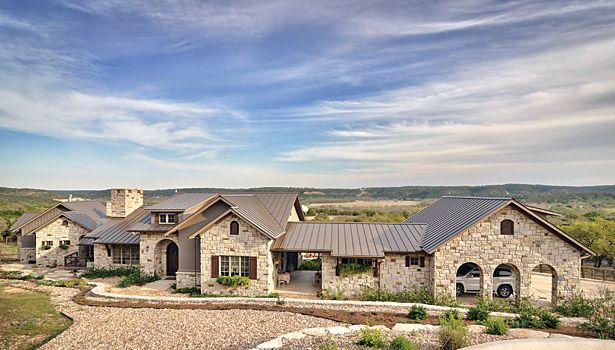 Texas hill country stone and rock exterior used for Hill country stone