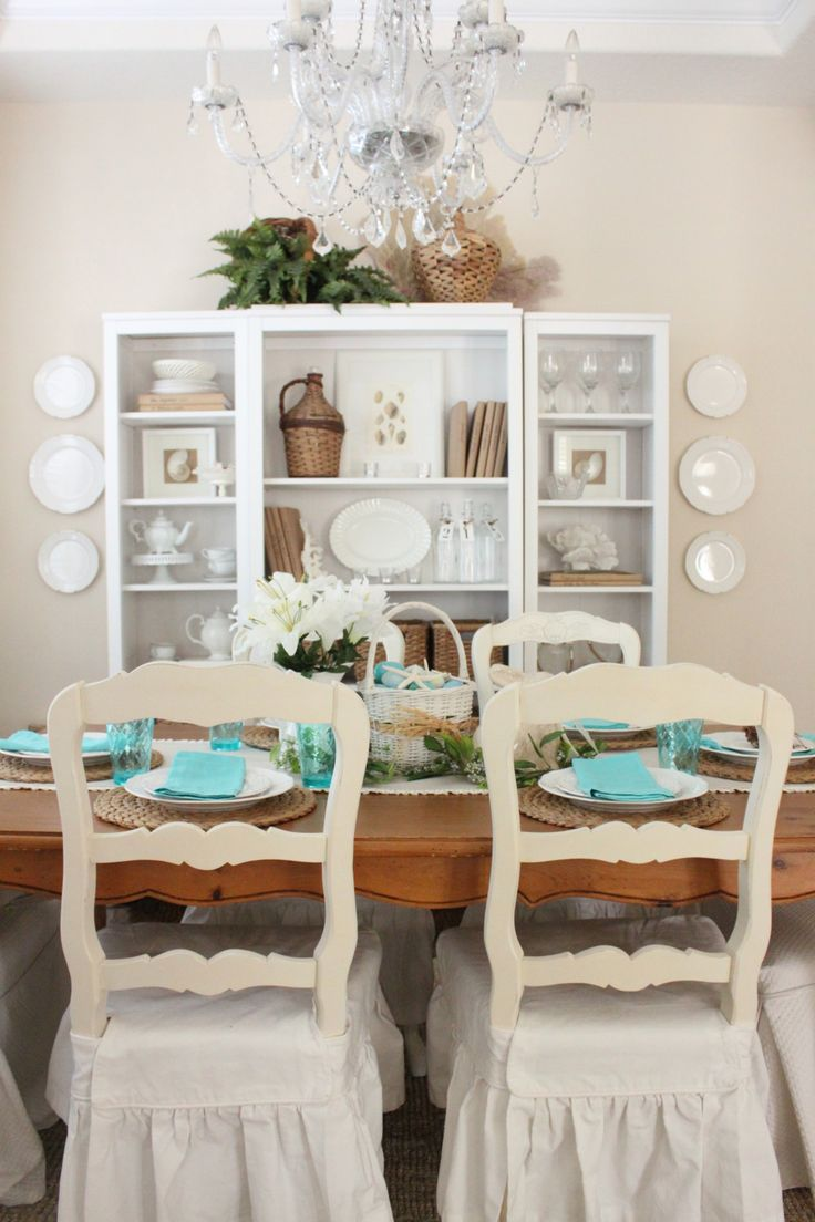 124 best summer style coastal decorating ideas images on for Informal dining room decorating ideas