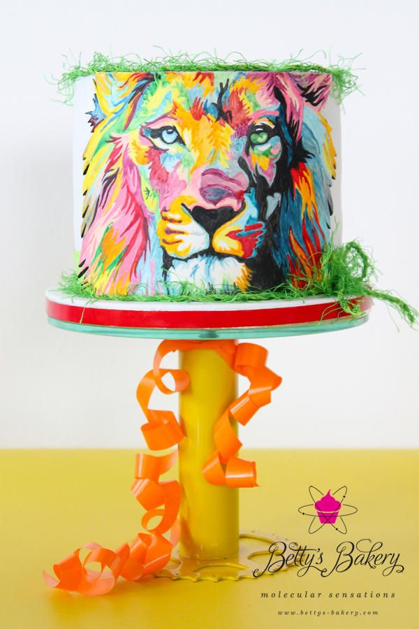 """Through the eyes of a Lion"" - Cake by Betty's Bakery (molecular sensations)"
