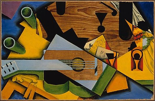 Juan Gris (1887–1927) | Still Life with a Guitar, 1913, oil on canvas. The Metropolitan Museum of Art, NY.