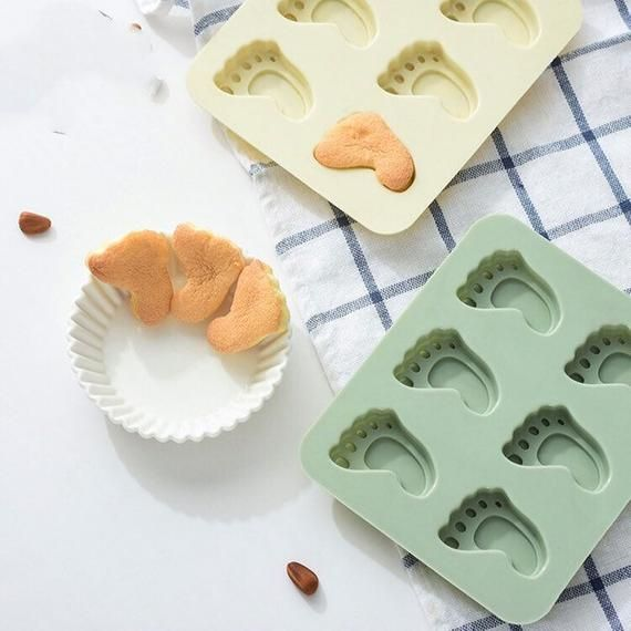 2* DIY Silicone Soap Mold Cake Candy Chocolate Cookies Baking Mold Ice Cube Foot